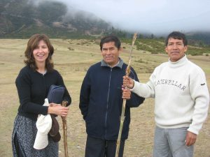 Decembre 2007. Battlefield. Mercedes, Pastor Jose and Julio -Reconciliation at the battlefield of Ayacucho between one Spaniard and two Peruvians on behalf of both of our countries.