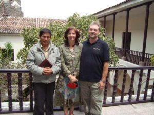 February 2009. Pastor Jose, Mercedes & Michael at the University of Ayacucho where the Shining Path was born.